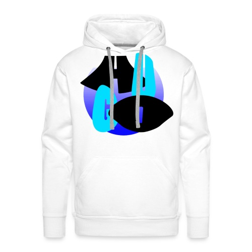 Hugo's logo transparant - Mannen Premium hoodie