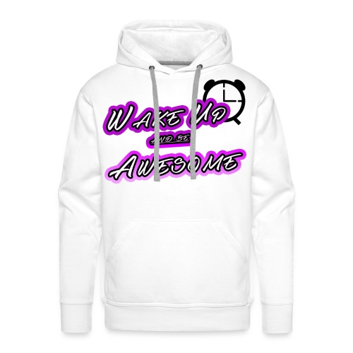 shirt mrzerog86 wake up awesome - Männer Premium Hoodie