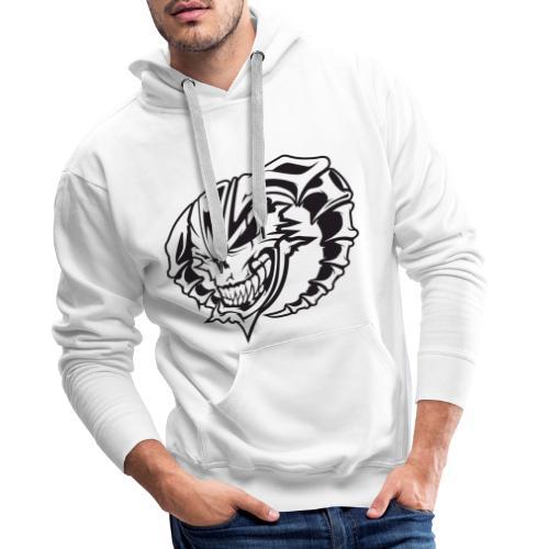 France Gabber Radio Crâne - Sweat-shirt à capuche Premium pour hommes