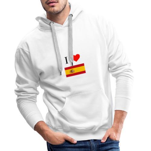 i love spain - Sudadera con capucha premium para hombre