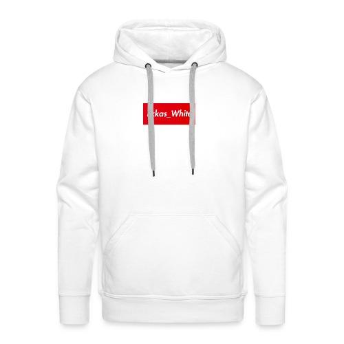 Lxkas_white boxlogo - Männer Premium Hoodie