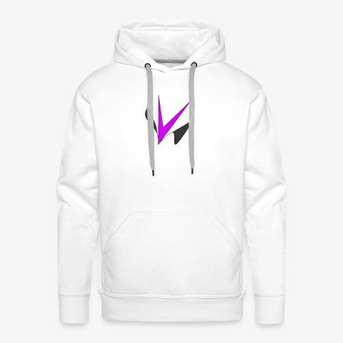 Vinper Logo Rose/Noir - Sweat-shirt à capuche Premium pour hommes