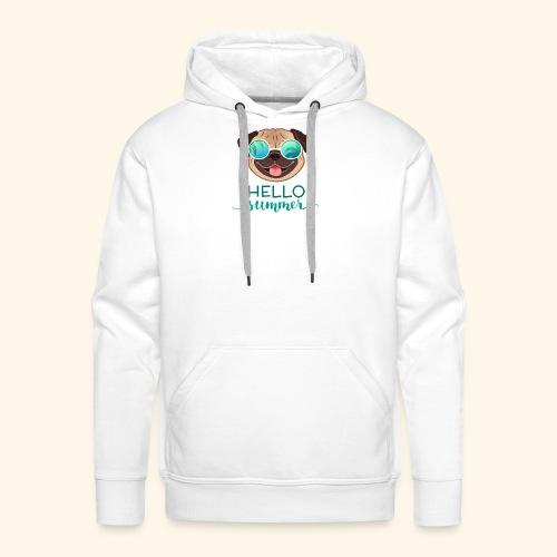 Summer Pug - Men's Premium Hoodie