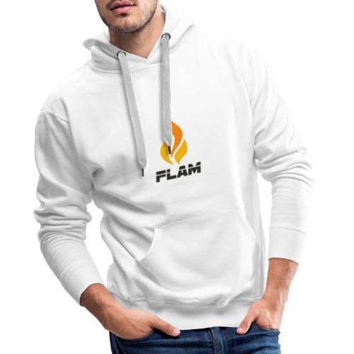 FLAM Orange - Sweat-shirt à capuche Premium pour hommes