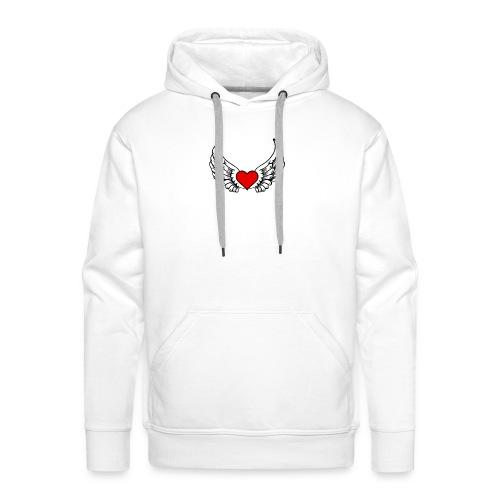 corazon-bonito-para-imprimir-png - Sudadera con capucha premium para hombre