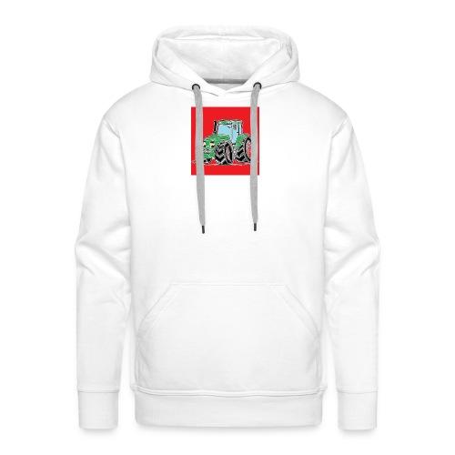 tracteur 1 rouge - Sweat-shirt à capuche Premium pour hommes