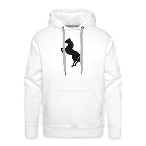 Dame T-Shirt M. Sort Logo - Herre Premium hættetrøje
