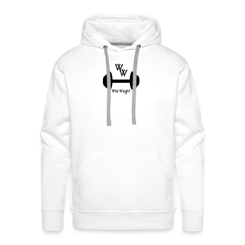 wild weight logo (R) - Sudadera con capucha premium para hombre