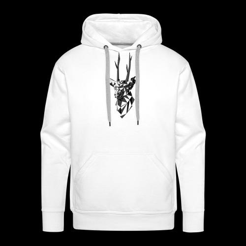 Polygoon Hert - Mannen Premium hoodie