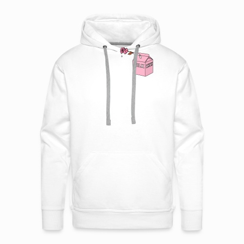 Milkkkkk & rose drink - Sweat-shirt à capuche Premium pour hommes