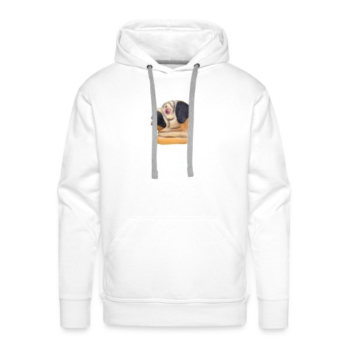 A larger DJ Pug - Men's Premium Hoodie