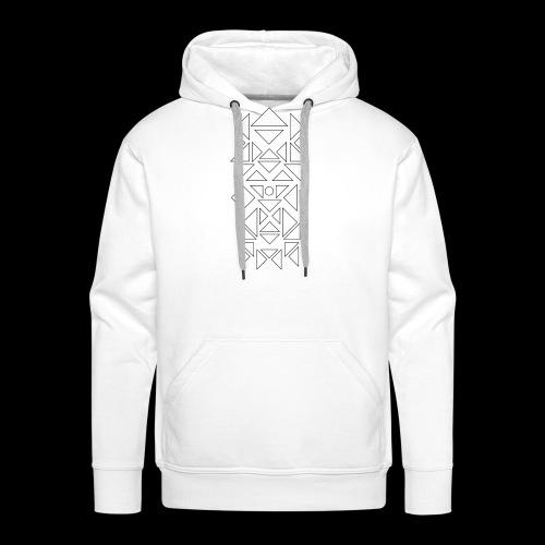 Triangles Pattern - Mannen Premium hoodie