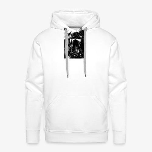 Loup - Sweat-shirt à capuche Premium pour hommes