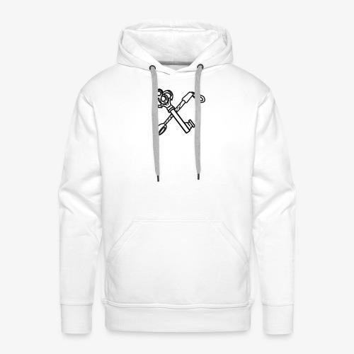 Logo unique black - Sweat-shirt à capuche Premium pour hommes