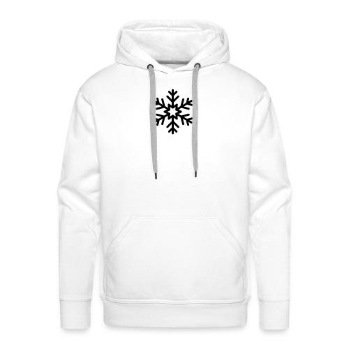snowflake144_-1--png - Sudadera con capucha premium para hombre
