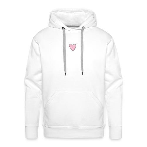 Coeur rose - Sweat-shirt à capuche Premium pour hommes