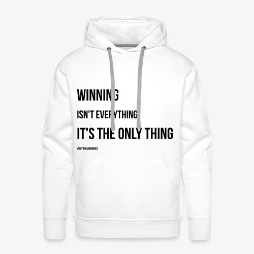 Football Victory Quotation - Men's Premium Hoodie