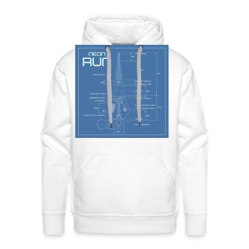 NeonRun blueprint - Mannen Premium hoodie