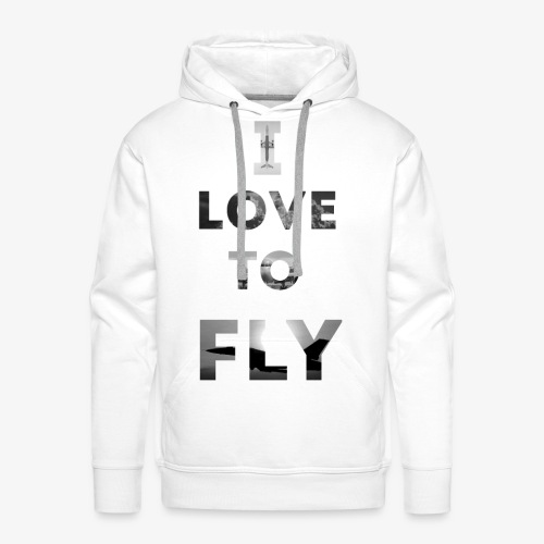 I LOVE TO FLY - Bluza męska Premium z kapturem