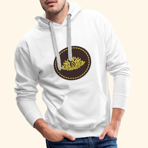 Mandala lotus marron jaune - Sweat-shirt à capuche Premium pour hommes