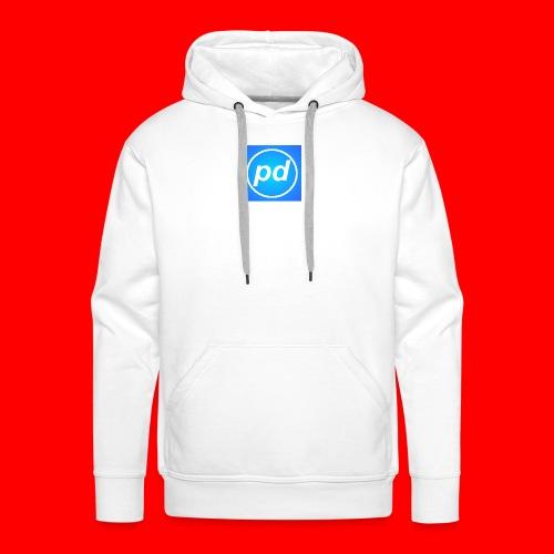 pd Blue V2 - Herre Premium hættetrøje