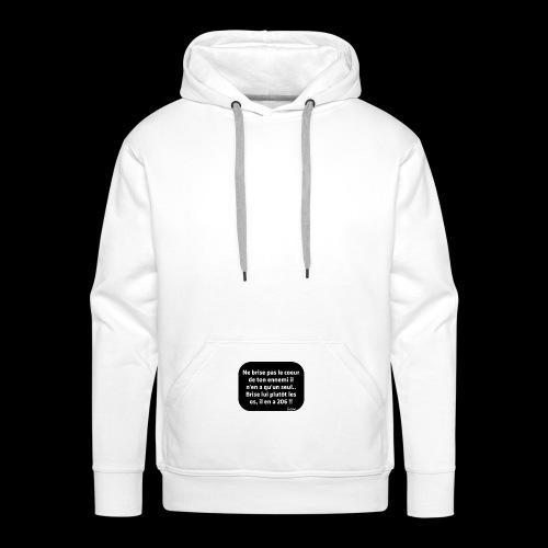 drôle - Sweat-shirt à capuche Premium pour hommes