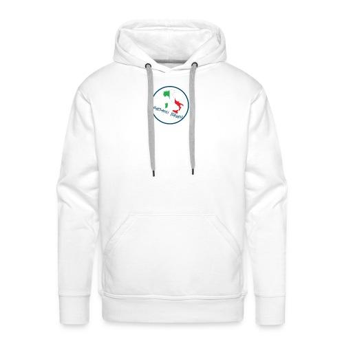SC logo - Felpa con cappuccio premium da uomo