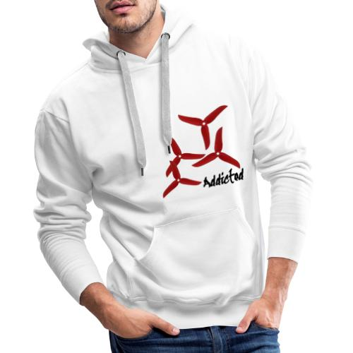addicted (black) with props (red) - Mannen Premium hoodie