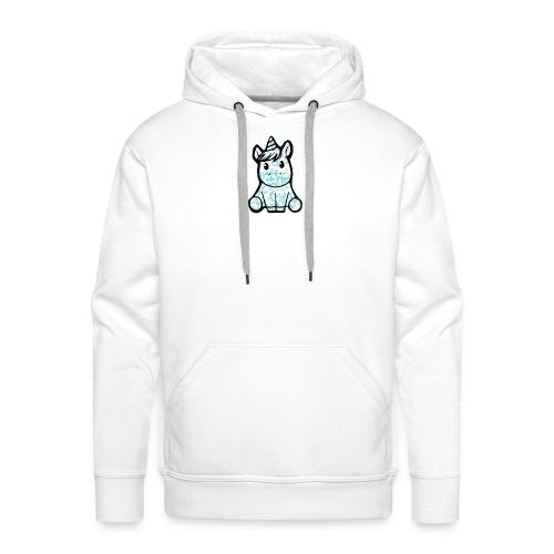 Blue Sparkle Unicorn - Männer Premium Hoodie