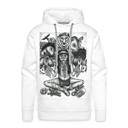 The Shaman (native american) - Men's Premium Hoodie