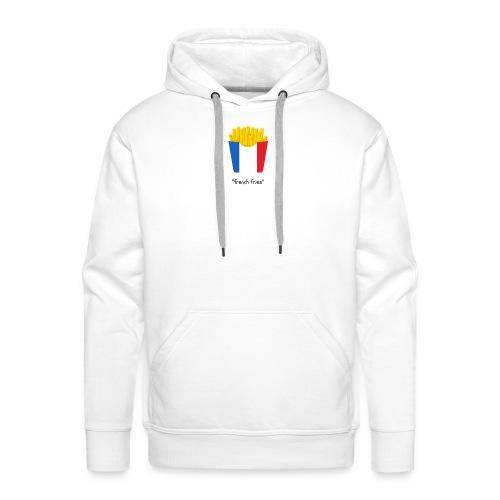 frites2 - Sweat-shirt à capuche Premium pour hommes