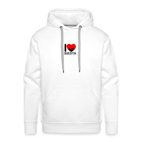 I love siesta - Sudadera con capucha premium para hombre