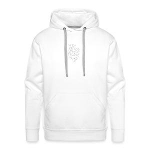 FNS - Coque Coeur - Sweat-shirt à capuche Premium pour hommes