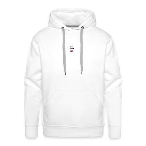 Gekke vlogger telefoon hoesje - Mannen Premium hoodie