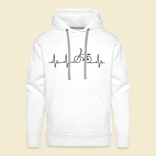 Radball | Heart Monitor Black - Männer Premium Hoodie