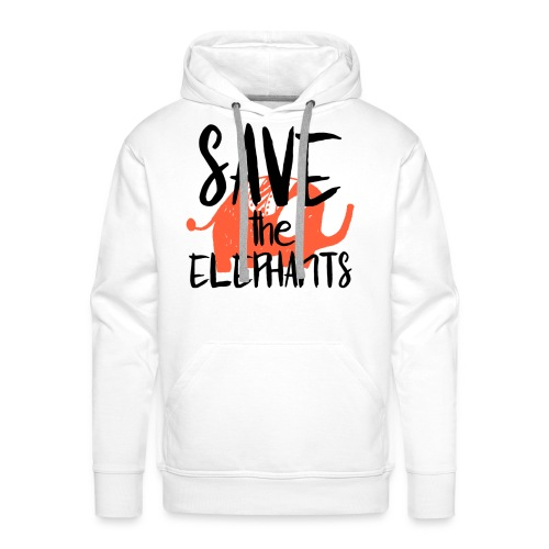 Save the Elephants - Men's Premium Hoodie