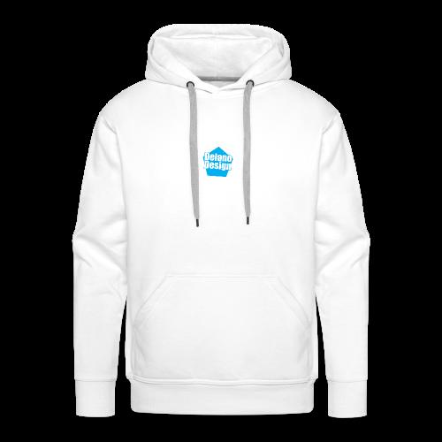 DelanoDesign - Logo Blauw - Mannen Premium hoodie