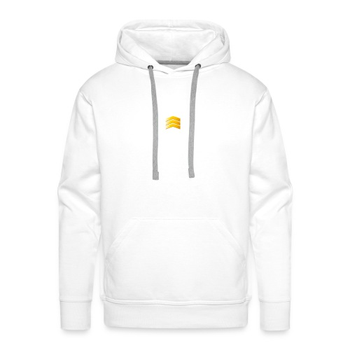 Wit en black - Mannen Premium hoodie
