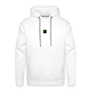 Wit baseball shirt Logo merk - Mannen Premium hoodie