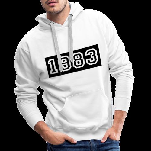 1983 - Sudadera con capucha premium para hombre