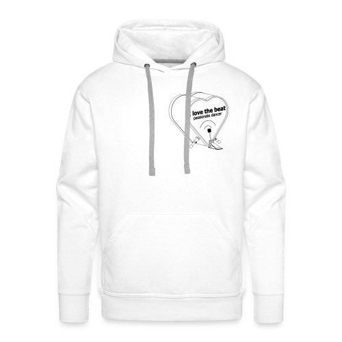 DJ I love the beat! rhythmus dancer bass drum - Männer Premium Hoodie