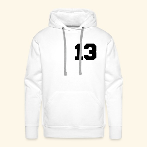 13 black - Männer Premium Hoodie