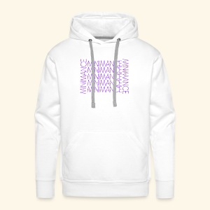 purple vibrations x @_sol.n - Sweat-shirt à capuche Premium pour hommes
