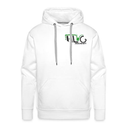 HLG machinery vert et gris - Sweat-shirt à capuche Premium pour hommes