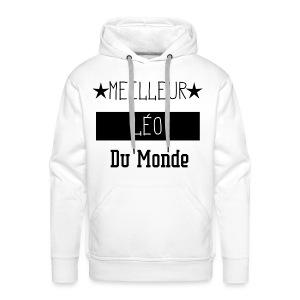 Meilleur Léo du Monde - Sweat-shirt à capuche Premium pour hommes