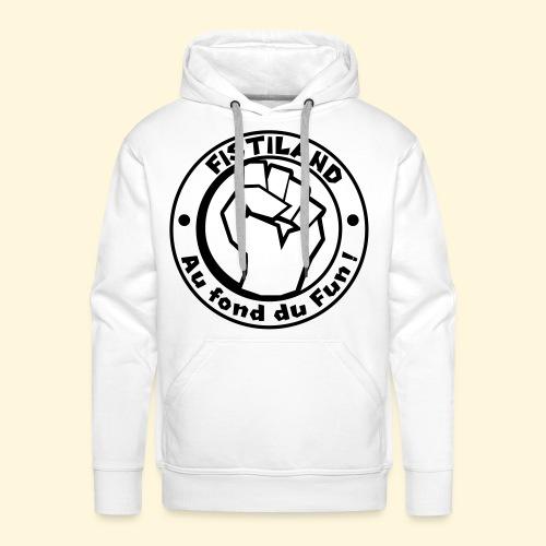 logo Fistiland Noir - Sweat-shirt à capuche Premium pour hommes