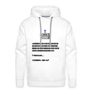 Salutation robotique - Sweat-shirt à capuche Premium pour hommes