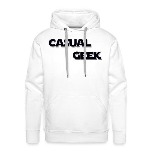 CasualGeek Standard Logo - Men's Premium Hoodie
