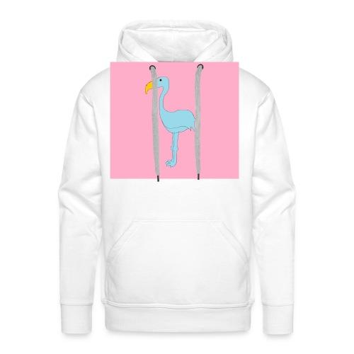 flami shirt andersom - Mannen Premium hoodie