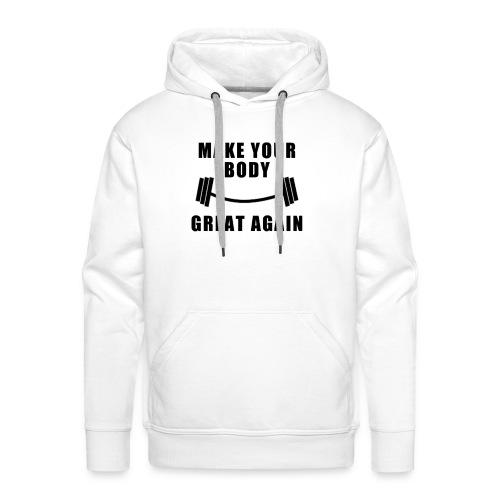MYBGA 00 N - Sweat-shirt à capuche Premium pour hommes